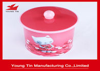 135 x 150 MM Cylinder Cookie Packaging Gift Tins Container Box With Nob On Lid