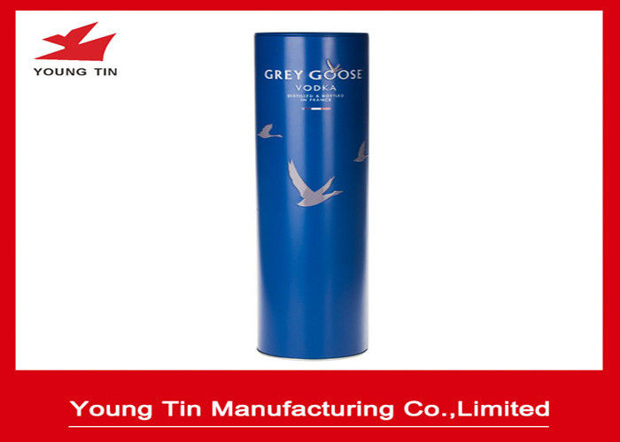 Cylinder Tinplate Metal Wine Bottle Packaging Wine Tins With Custom Printing