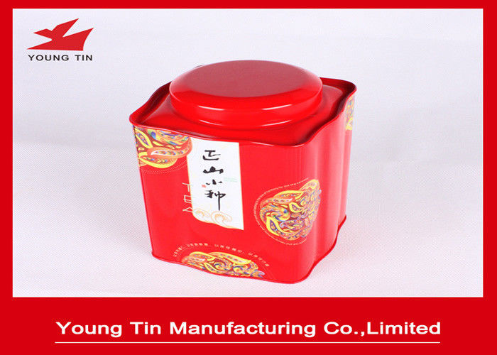 Tinplate Traditional Metal Tea Tin Box Container With Inner Lid And Outer Lid