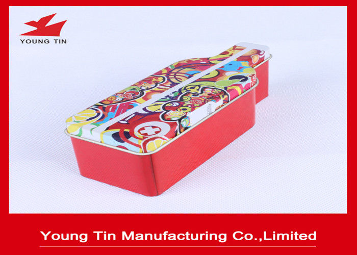 Bottle shape Empty Metal Tinplate Material Type Wine Tin box With Artwork CMYK Printing