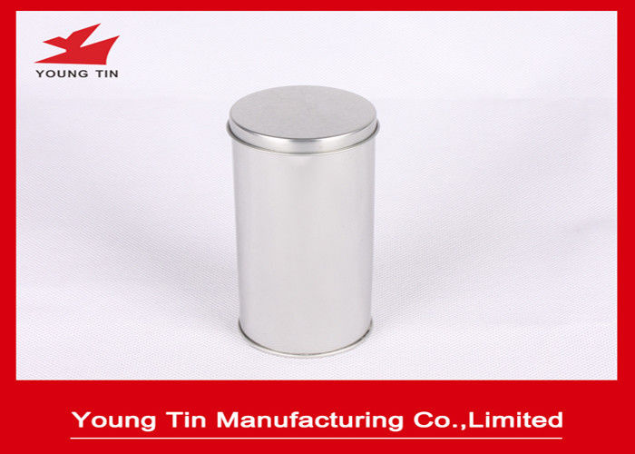 FDA Blank Round Cylinder Metal Tinplate Canister Plain Color For Tea Storage